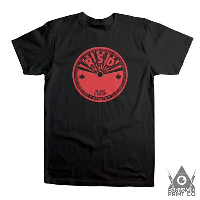 RECORD STORE DAY CANADA STICKER T-SHIRT – XLARGE BLACK