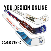 Plastic Goalie Hockey Stick (White) Design Online or Upload Your Artwork