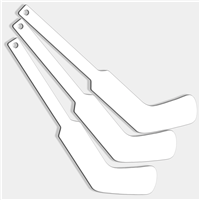 Plastic Goalie Hockey Sticks (Blank White)