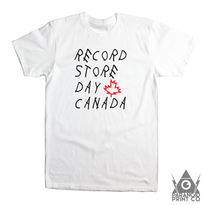 RECORD STORE DAY CANADA WOES T-SHIRT – MEDIUM WHITE